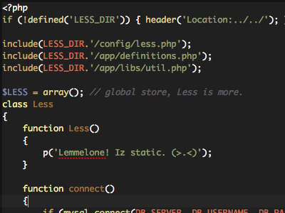 Less php