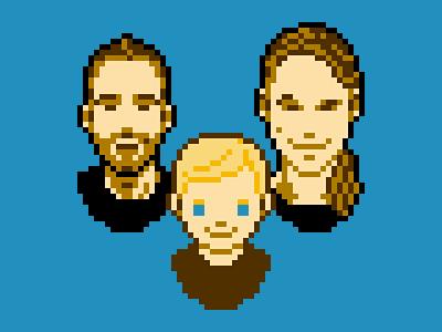 Family Portrait 8bit pixel