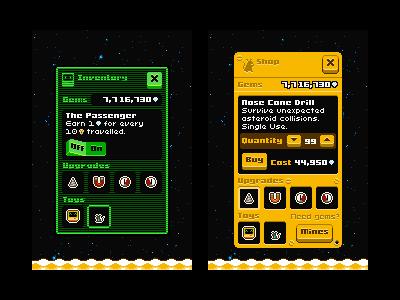 Flip's Escape UI flips escape the last rocket ami spacemouse pixel 8bit