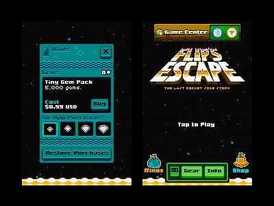 More Flip's Escape UI flips escape the last rocket spacemouse ami pixel 8bit