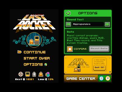 The Last Rocket's One Year Anniversary the last rocket flips escape 8bit pixel logo flip ami space mouse