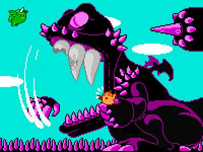 Boss Boss 8bit game retro game crunch pixel boss clew cleo ripper