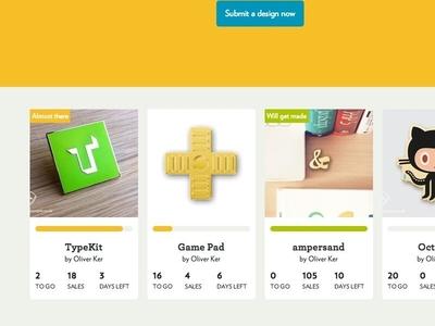 Curio Mill Home badges ui shop design