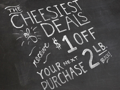 Cheesy Deal cheese custom lettering custom type chalk texture type typography lettering