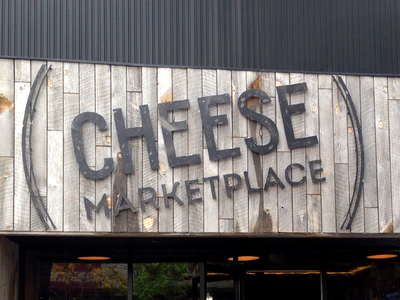 Cheese Marketplace Sign cheese logotype logo design signage vintage custom lettering custom type texture type typography lettering