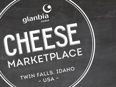 Glanbia Cheese Marketplace Logo cheese lettering logotype
