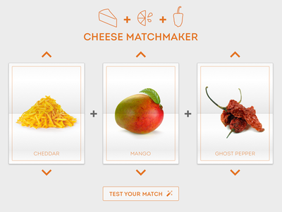 Cheese Matchmaker Card Game identity logo interactive matchmaker game cards flip cards card