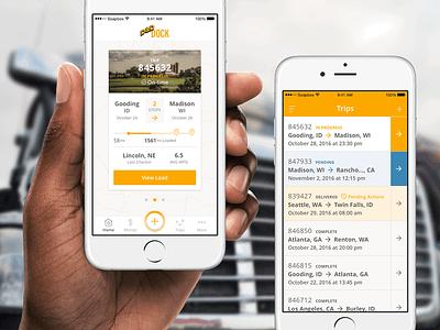 D&D Dispatch App transport trucking ios user interface sketch interface app load app transportation mobile ux ui