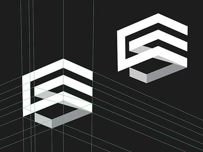 Creative Soapbox Mark soapbox perspective grid symbol monogram mark logotype logo identity