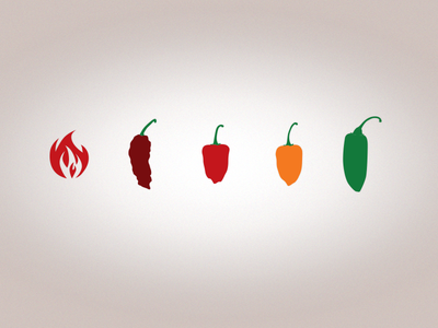 Pepper Icons pepper icon habañero ghost pepper fire jalapeño