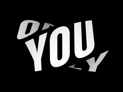 Reminder: Yolo motion twist kinetic type cinema4d c4d abstract 3d kinetic animated type loop animation yolo type animated gif typography typo
