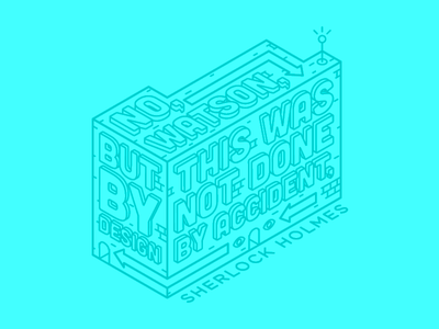 Aiga Quotes #02 vector quote outline icon eye holmes sherlock design building build line isometric
