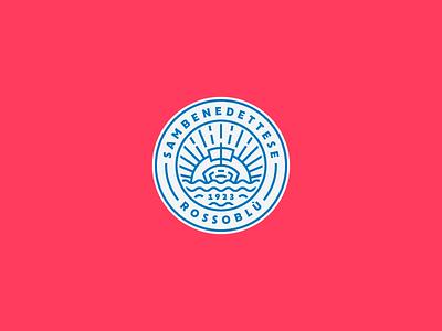 Sambenedettese Crest sun soccer ship outline logo lineart line vector illustrator illustration icon graphicdesign football design branding badgedesign badge