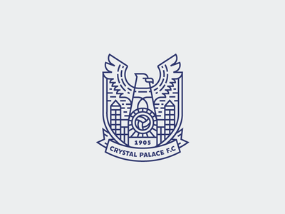 Crystal Palace Crest typography geometry vector crest crystalpalace eagle badge badgedesign branding design football graphicdesign icon illustration illustrator line lineart logo outline soccer