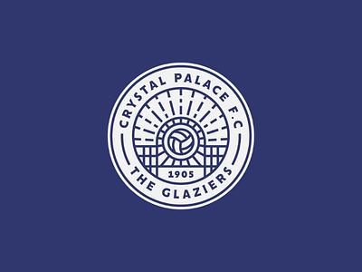 Crystal Palace Crest alternative vector typography soccer outline logo lineart line illustrator illustration icon graphicdesign geometry football eagle design crystalpalace crest branding badgedesign badge