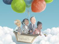 Balloon - Editorial cover Illustration