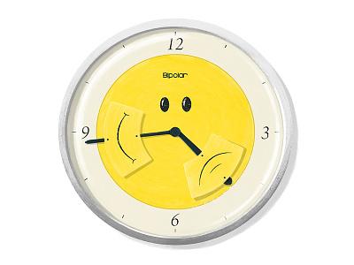 Bipolar Clock time happy sad bipolar psychology clock