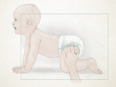 Diaper Ad Concept concept art digital illustration diaper concept illustration advertising campaign advertising