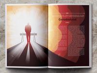 Euthenasia magazine illustrydom limited color palette vector illustration vector art illustration digital illustration editorial illustration euthenasia