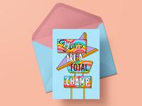 Typography Card handmade branding card design doodle art doodling vector typographic handlettering lettermark lettering typography art typography doodleart greetingcard greeting cards illustration