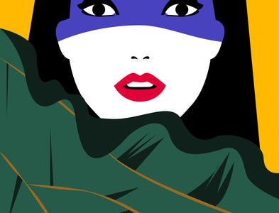 Goddess japanese style kpop tvshow vintage typography oddbodies abstract flat design vector illustration minimalist
