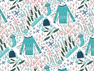Christmas pattern surface pattern design surface design pattern design doodleart oddbodies illustration design christmas card christmas tree ugly christmas sweater christmas