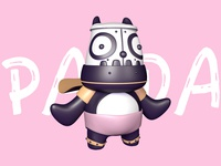 Robot Panda By C4d