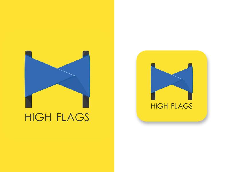 HIGH FLAGS (logo) vector creative flag logo flags flag art illustrator visual art graphic design illustration illustraion logo
