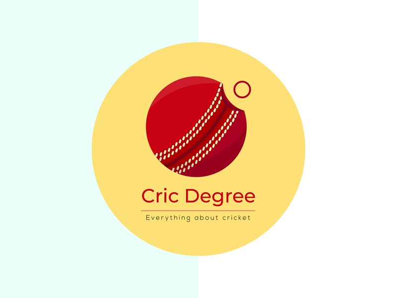 Cric Degree logo cricket degree sports ball sport logo logodesign character art creative logo visual art illustration