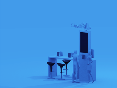 Exhibition design in 3D for a constrained space