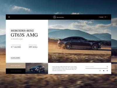 Mercedes-Benz GT63s AMG exercises 设计 概念