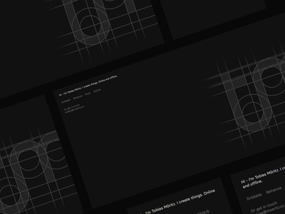 Designer's Landing page portfolio designer portfolio designer logo ui concept design landing page