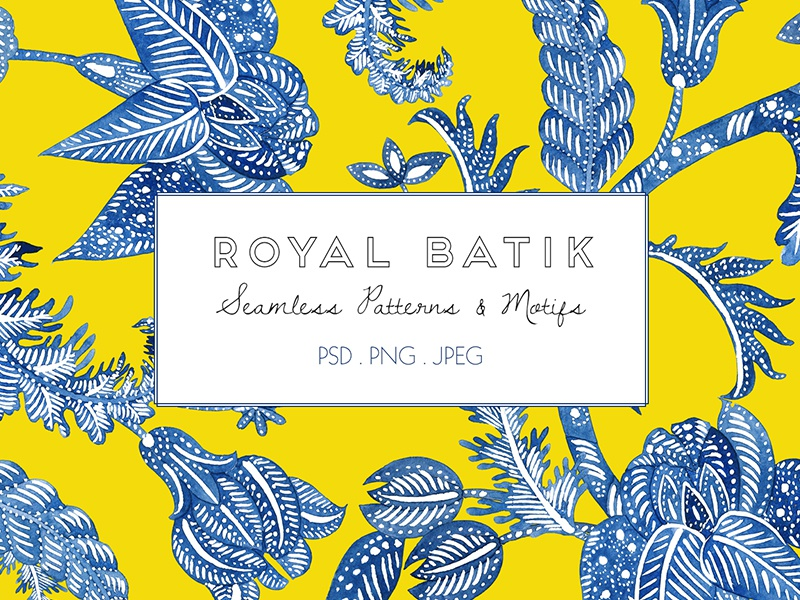 Royal Batik wallpaper paper batik watercolor fresh green textiles fabric seamless designs patterns prints