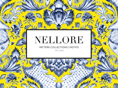 Nellore Print Collection illustrations palampore chintz india designs handpainted watercolor florals illustration design textiles prints seamless patterns