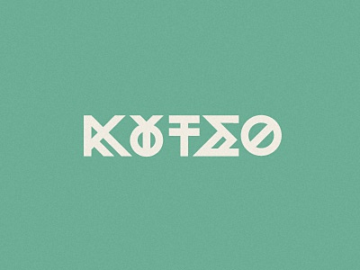 Koutso lettering play hopscotch lettering typography greek game playground geometric modernism green