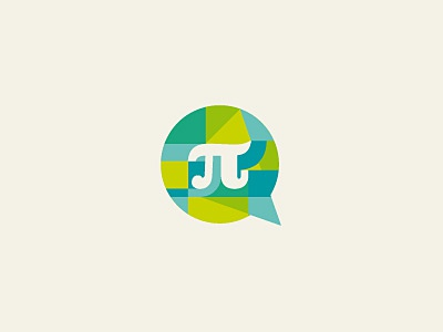 Patras Events logo design rejected greek pi math bubble color geometry green modernist clarendon typography