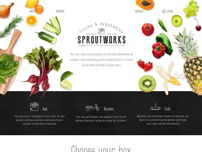 Fruits & Vegetables Website cook package box sale vegetables fruits
