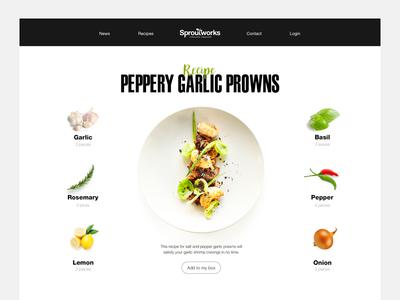 Recipe Ingredients  recipe fruits veggies responsive desktop mobile ingredients box