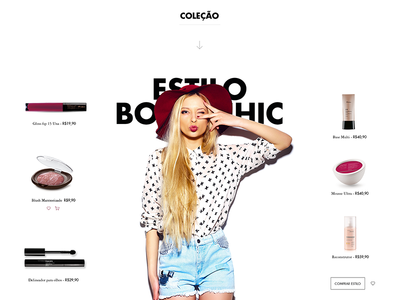 Natura Pitch - Boho Chic Style collection style responsive desktop beauty cosmetic pitch natura