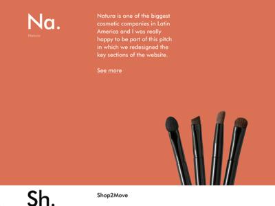 Natura Case responsive portfolio website personal colorful colors new case natura