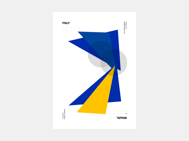 Women's World Cup 2019 Generative Poster geometric art geometric art womens world cup worldcup poster generative
