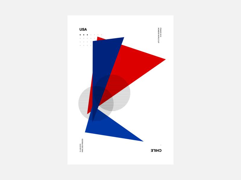 Women's World Cup 2019 Generative Poster geometric design world cup worldcup poster art poster generative