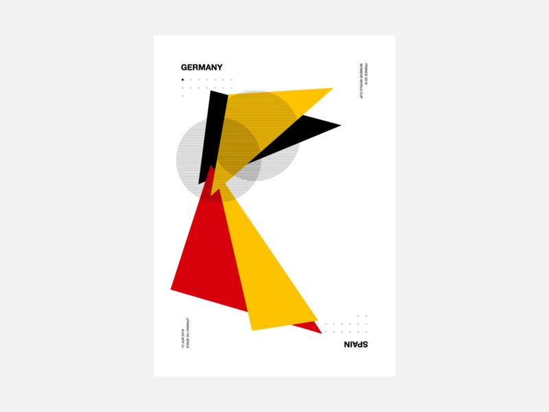 Women's World Cup 2019 Generative Poster art geometric design womens world cup worldcup poster generative