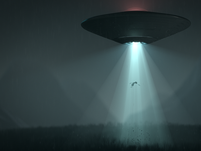 Scotty redshift ufo digital art c4d