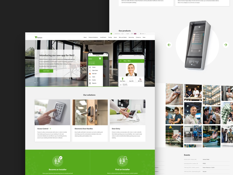 Paxton - Web Design ecommerce website web design