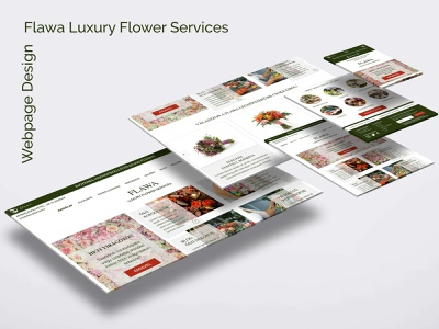 UI Design for Flawa Luxury Flower Services web design uidesign ui