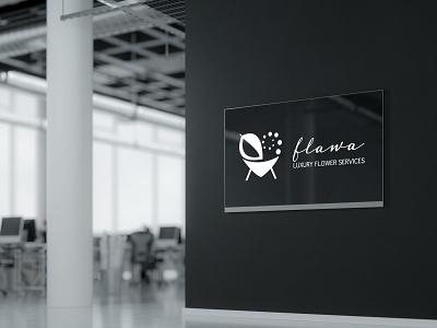 Logo Design, Branding for Flawa Luxury Flower Services logo illustration branding