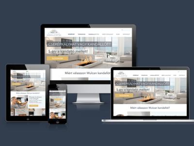 Website UI Design for Wulcan Ltd