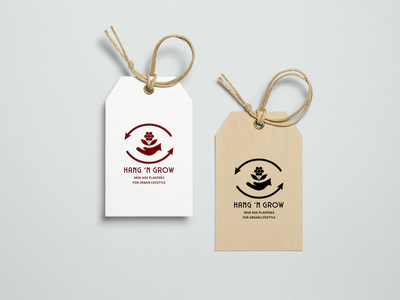 Logo Design, Branding for Hang 'N Grow New Age Planters vector design web logo branding