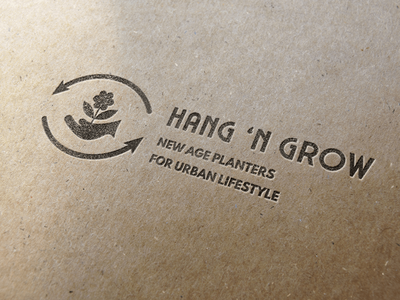 Logo Design, Branding for Hang 'N Grow New Age Planters web minimal typography vector illustration design logo branding